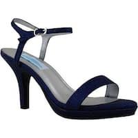 Dyeables Women's Aurora Ankle Strap Sandal Navy Glitter