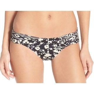 Robin Piccone NEW Black Women's Large L Floral Bikini Bottom Swimwear