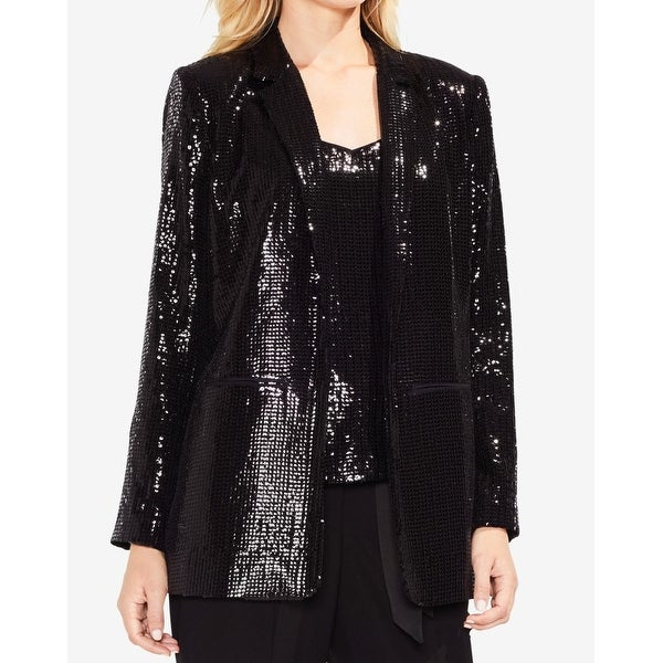 Vince Camuto Women's Sequined Open Front Jacket