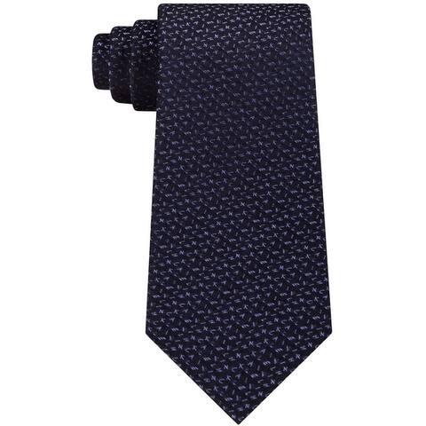 Calvin Klein Mens Shimmer Logo Self-Tied Necktie - One Size