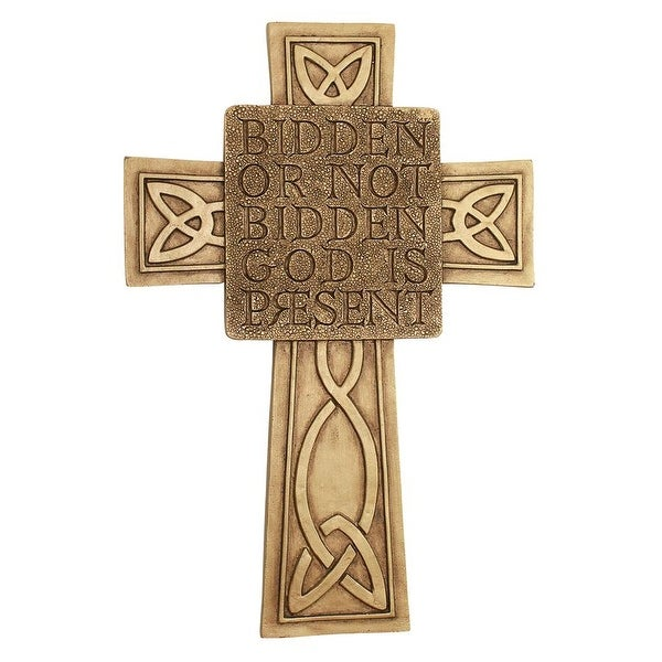 Shop Design Toscano God is Present Celtic Cross Wall Sculpture ...