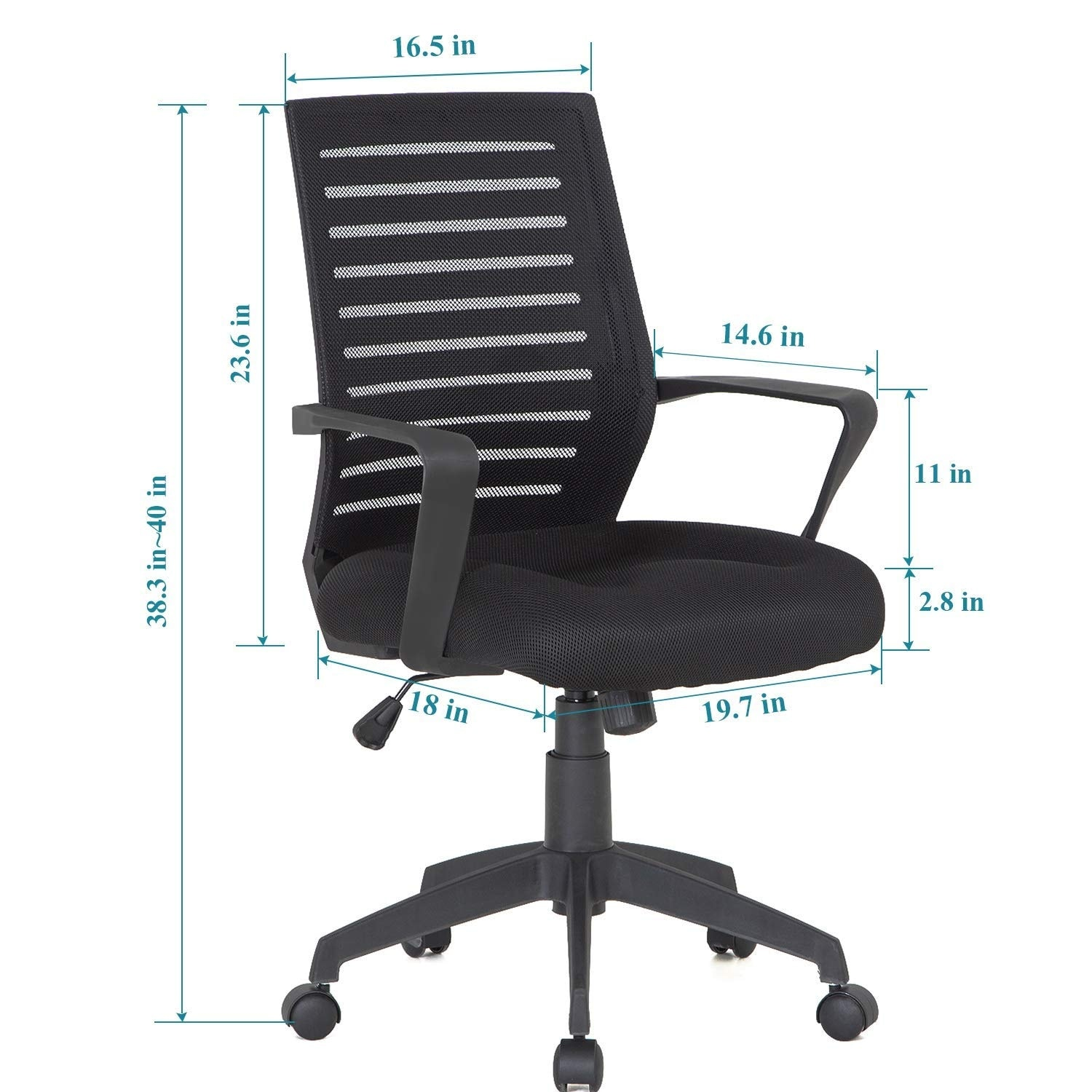 Shop Office Chair Mesh Surface Cushion Adjustable Swivel Mesh Desk Chairs On Sale Overstock 12605503 Mesh Cushion