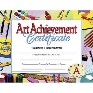 (6 Pk) Certificates Art Achievement Inkjet Laser 8.5X11 30 Per Pk