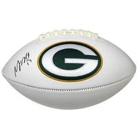 Davante Adams Signed Green Bay Packers Logo Football JSA ITP