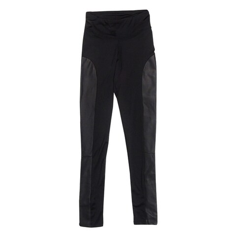 Kensie Women's Faux Leather Inset Legging - Black - XS