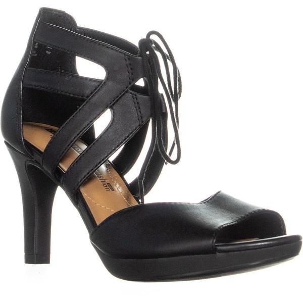 e0815fe3a81 Shop Clarks Adriel Elaina Lace Up Heel Covered Sandals