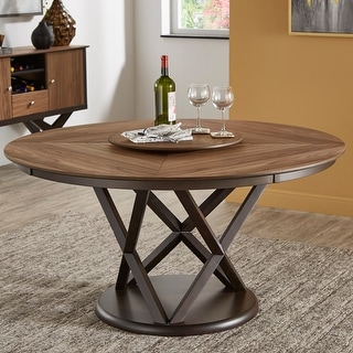 Link to Priya Lazy Susan Turntable Espresso and Walnut Dining Table by iNSPIRE Q Modern Similar Items in Dining Room & Bar Furniture