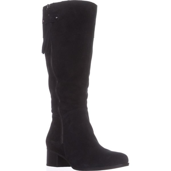 naturalizer Demi Wide Calf Riding Boots, Black
