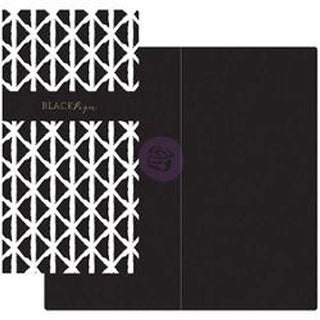Black & White W/Black Paper - Prima Traveler's Journal Notebook Refill 32 Sheets