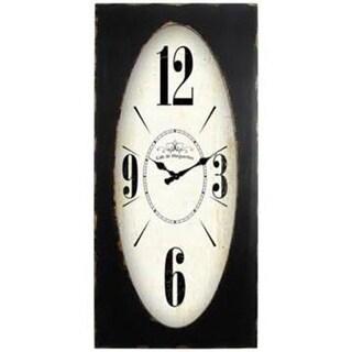 Yosemite CL19404937 Speakeasy Spokes Wall Clock - Brown