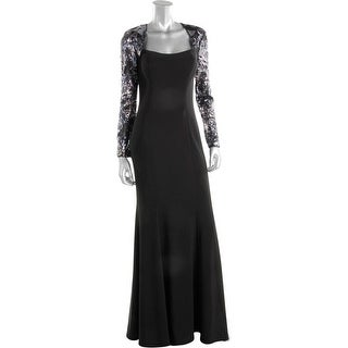 JS Collections Womens Sequined Full-Length Evening Dress - 6