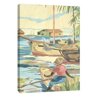 "PTM Images 9-108453  PTM Canvas Collection 10"" x 8"" - ""Isle II"" Giclee Men and Women Art Print on Canvas"