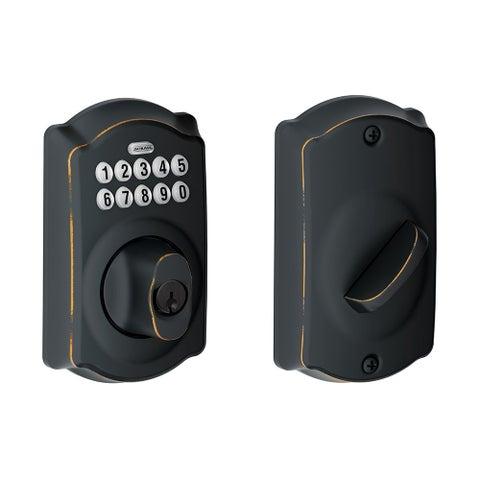 Schlage BE365-CAM-RF Camelot Electronic Keypad Single Cylinder Deadbolt- Manufacturer Refurbished