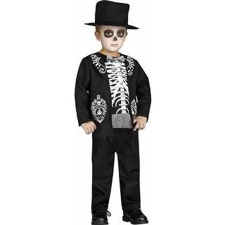 Skeleton King Child Costume - Black