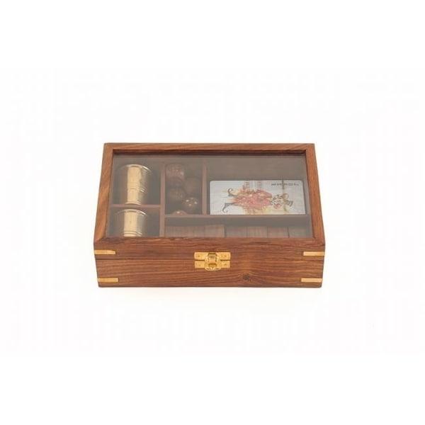 Shop Old Modern Handicrafts Nd061 Wooden Game Set With Brass Goblet