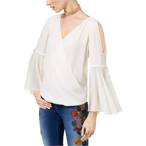 I-N-C Womens Cold Shoulder Knit Blouse, off-white, XX-Large