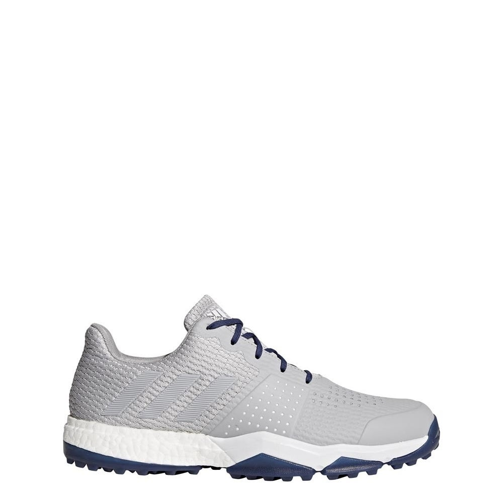 wholesale quality top quality New Men's Adidas Adipower Sport Boost 3 Golf Shoes Grey/Noble Indigo F33581
