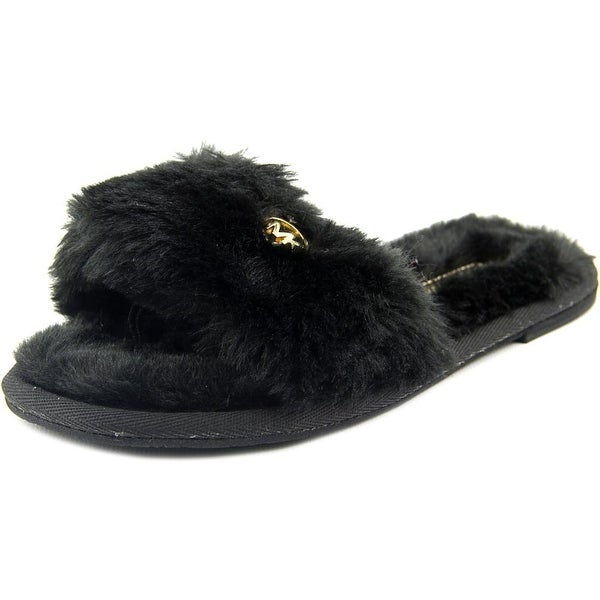 c114f51357701 Michael Michael Kors Jet Set MK Slide Women Open-Toe Synthetic Black Slipper