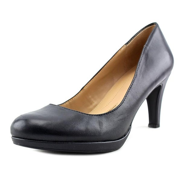 Naturalizer Penny Women Round Toe Leather Black Heels