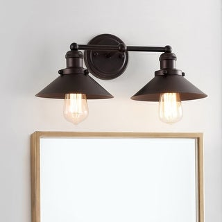 "July 17.5"" 2-light Metal Vanity Light, Oil Rubbed Bronze by JONATHAN  Y"