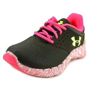 Under Armour UA GGS Flow RN Swirl Youth Round Toe Canvas Black Sneakers