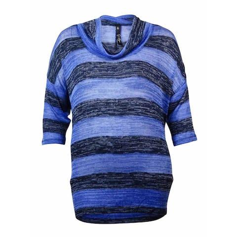 Jessica Simpson Women's Alexandra Cowl Neck Striped Sweater