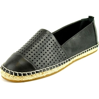 Vince Camuto Dandee Women Round Toe Leather Black Espadrille