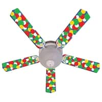 Bold Big Dots Print Blades 52In Ceiling Fan Light Kit - Multi