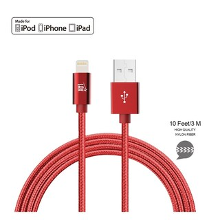 LAX Apple MFi Certified Lightning to USB Cable for Charge & Sync 6 ft for iPhone X 8 7 6 6S SE 5 and iPad Pro Air Mini 2 3 4