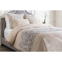 Battleship Grey and Cool Gray Elegant Blossom Dreams Linen Decorative Runner