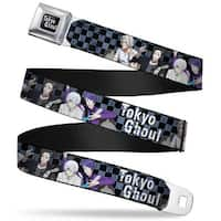 Tokyo Ghoul Full Color Black White Tokyo Ghoul 4 Character Group Weathered Seatbelt Belt