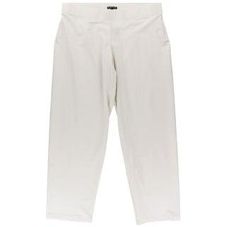 Eileen Fisher Womens Ponte Textured Dress Pants