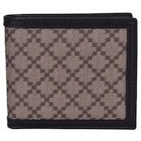 7880c54700d8 Gucci Men's 225826 Beige Black Canvas Leather Diamante Bifold Wallet -  4.25