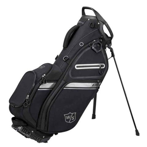 Wilson Staff EXO II Stand Golf Bag, 5 Divided Club Sections - Black/Silver - Black