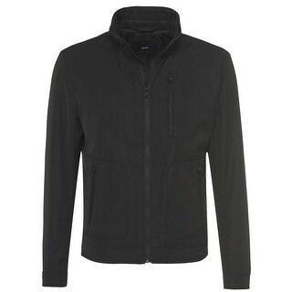 Hugo Boss Carret Mens Windbreaker Jacket 40R 40 Regular Black