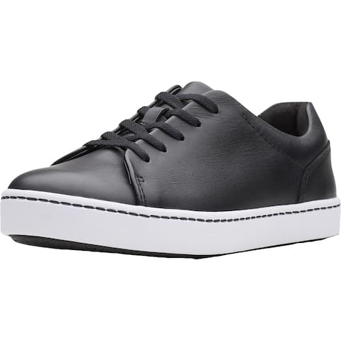Clarks Womens Pawley Springs Sneakers Leather Low Top