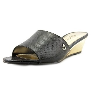 Thalia Sodi Riya W Open Toe Leather Slides Sandal