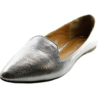 Report Roth Women  Pointed Toe Synthetic Silver Flats