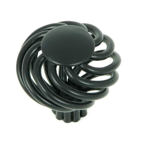 Stone Mill Hardware - Matte Black Cornwall Birdcage Cabinet Knobs (Pack of 5)