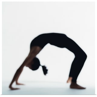 """Woman in yoga backbend pose"" Poster Print"