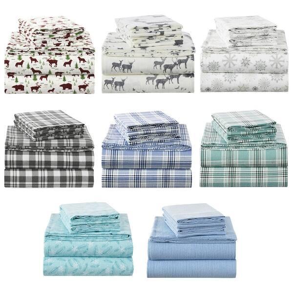 Shop Black Friday Deals On Enviohome 160 Gram Durable Cotton Flannel Bedding Set Overstock 28001557