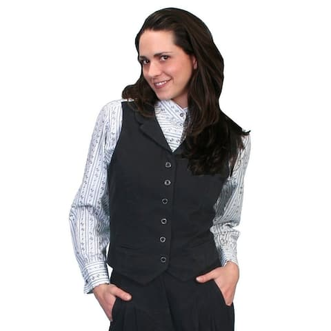 Scully Western Vest Womens Victorian Brushed Twill Cotton