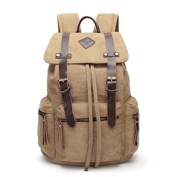 Fashion Canvas Backpack Large Capacity Men  x27 s Hiking Travel Bag Student Bag  Computer 0854a6c743999