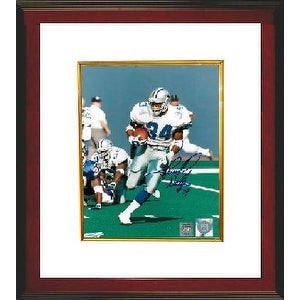 Herschel Walker signed Dallas Cowboys 8x10 Photo #34 Custom Framed (white jersey run)