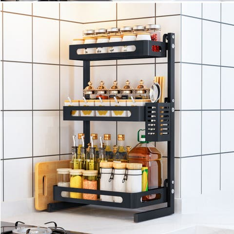 3 Tier Kitchen Countertop 31 Jar Spice Rack