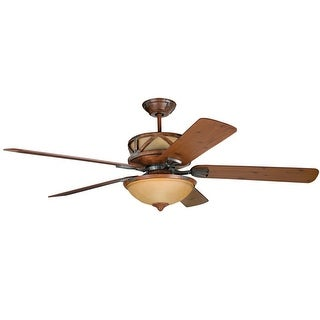 """Craftmade Deer Lodge Classic 60"""" 5 Blade Indoor Ceiling Fan - Blades, Light Kit and Remote Control Included"""