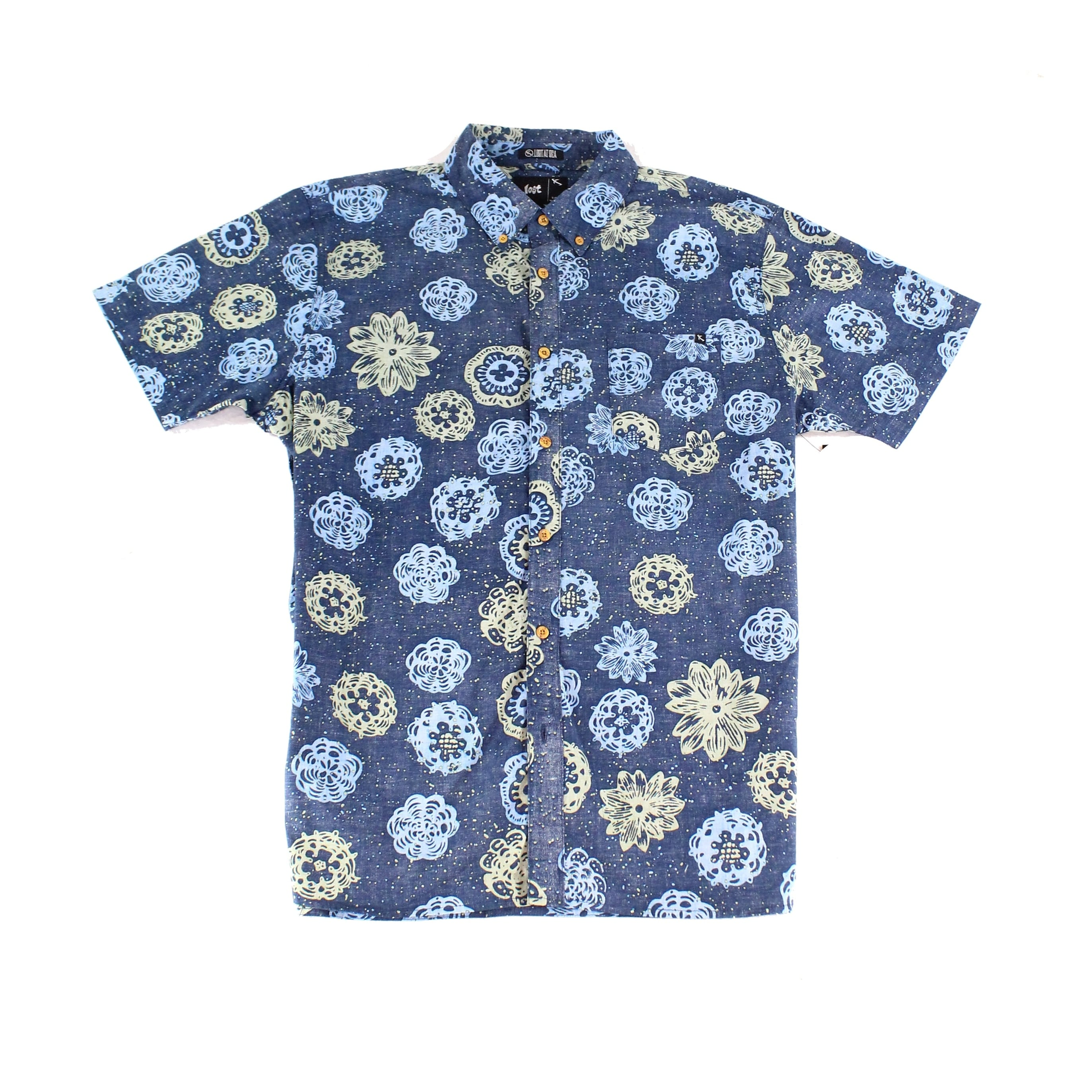 e2a141ad Shop Lost At Sea NEW Navy Blue Mens Size XL Button Down Printed Shirt -  Free Shipping On Orders Over $45 - Overstock - 20733813