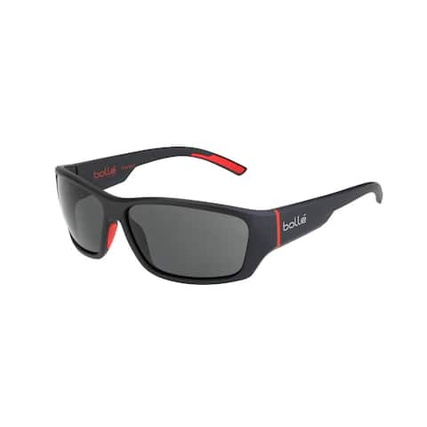 Bolle Ibex 59mm Wrap-Around Sport Sunglasses (Matte Black Red)