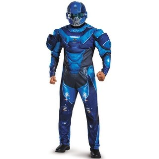 Disguise Blue Spartan Muscle Adult Costume