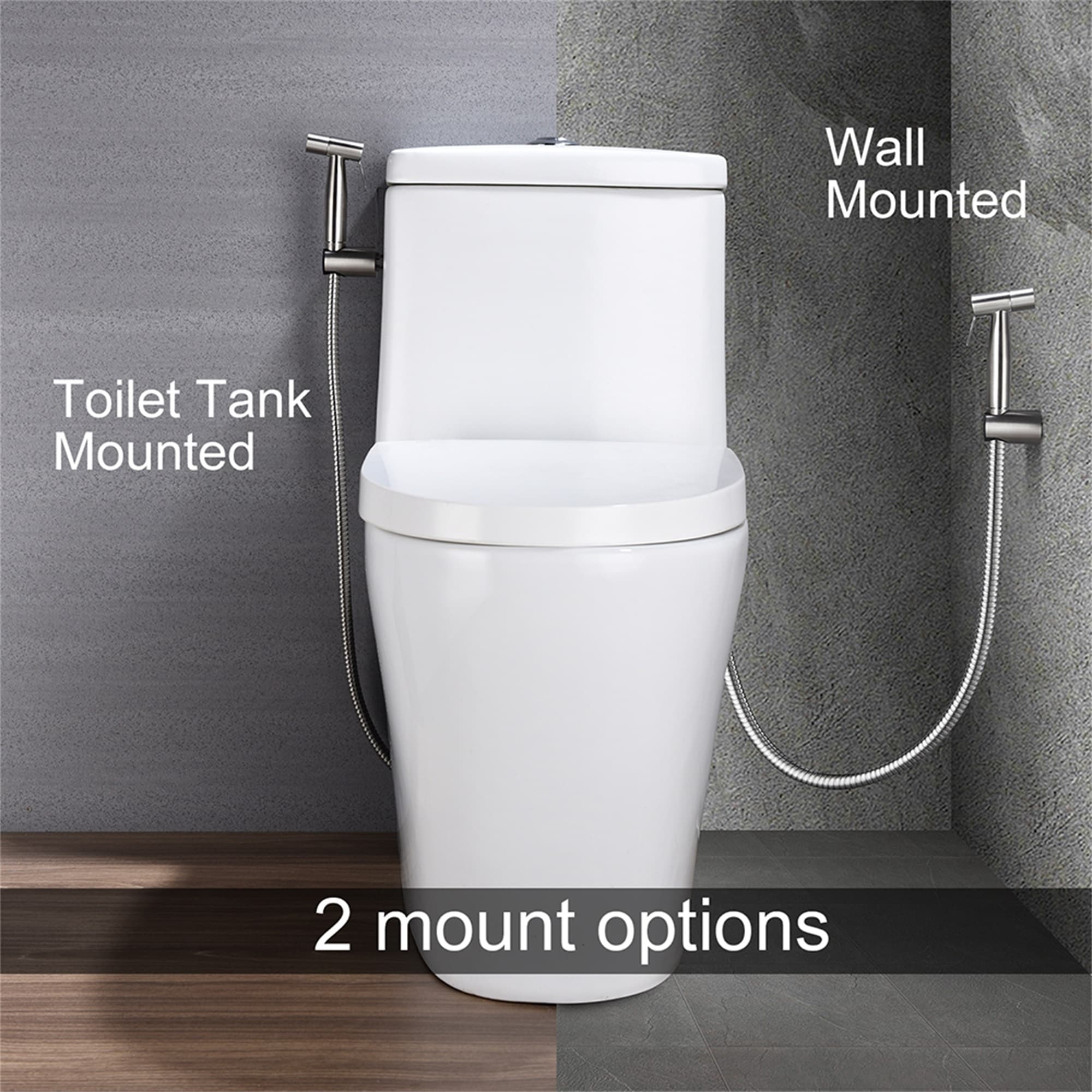 Antique Brass Handheld Bidet Toilet Sprayer Wall Mount Shower Bidet Diaper Spray Shattaf for Personal Hygiene